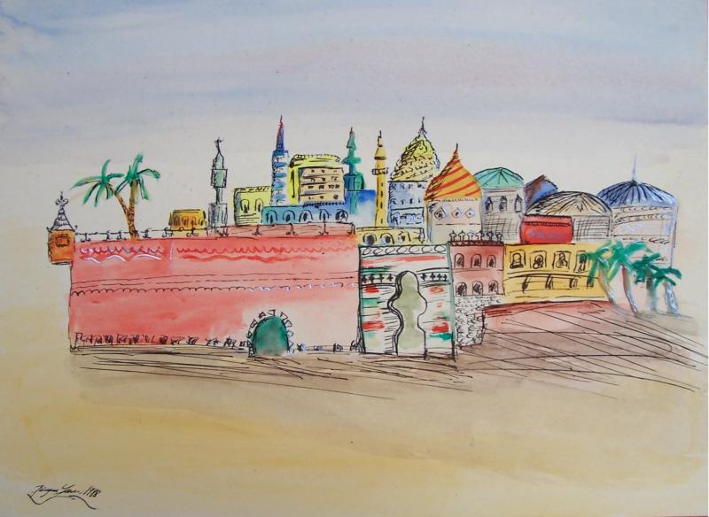 Orientalische stadt